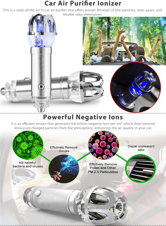 2016 mini auto car fresh air ionic purifier oxygen bar ozone ionizer cleaner new ebay. Black Bedroom Furniture Sets. Home Design Ideas