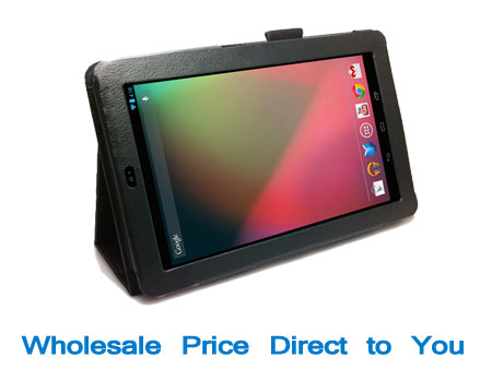 leather folio stand case cover for google nexus 7 7 inch tablet new