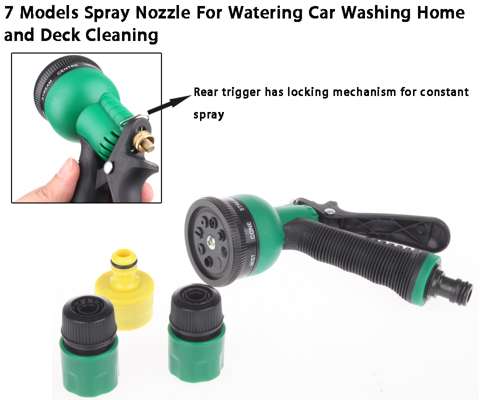 Spray Hose Nozzle: Garden Hose Hand Spray Nozzle For Watering Car Washing