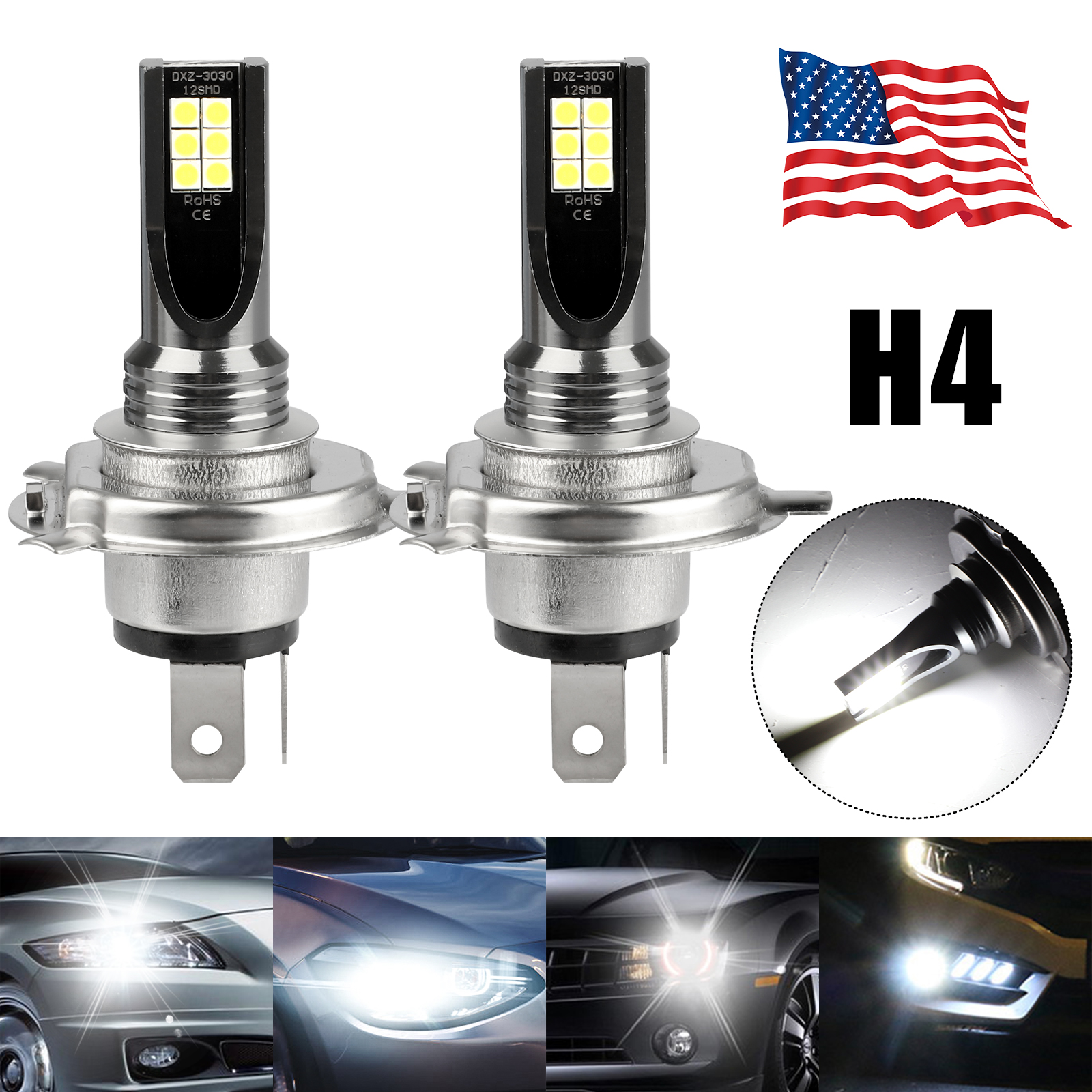 2X-H4-9003-LED-Headlight-Bulbs-Kit-High-Low-Beam-Super-Bright-100W-14000LM-6000K