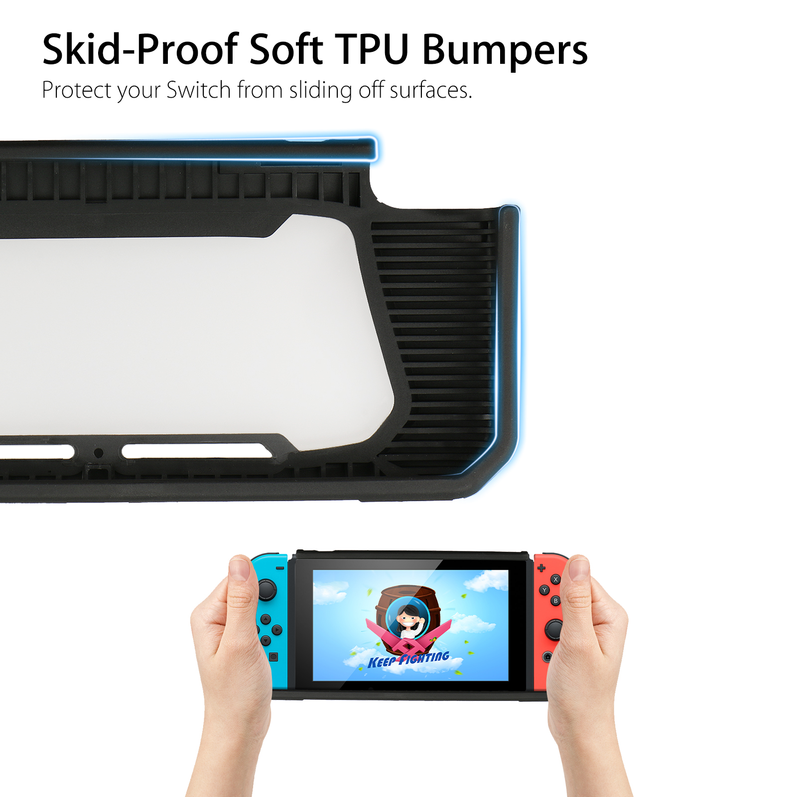 For-Nintendo-Switch-Protective-Skin-Case-Cover-Thumb-Grips-Tempered-Glass-Screen