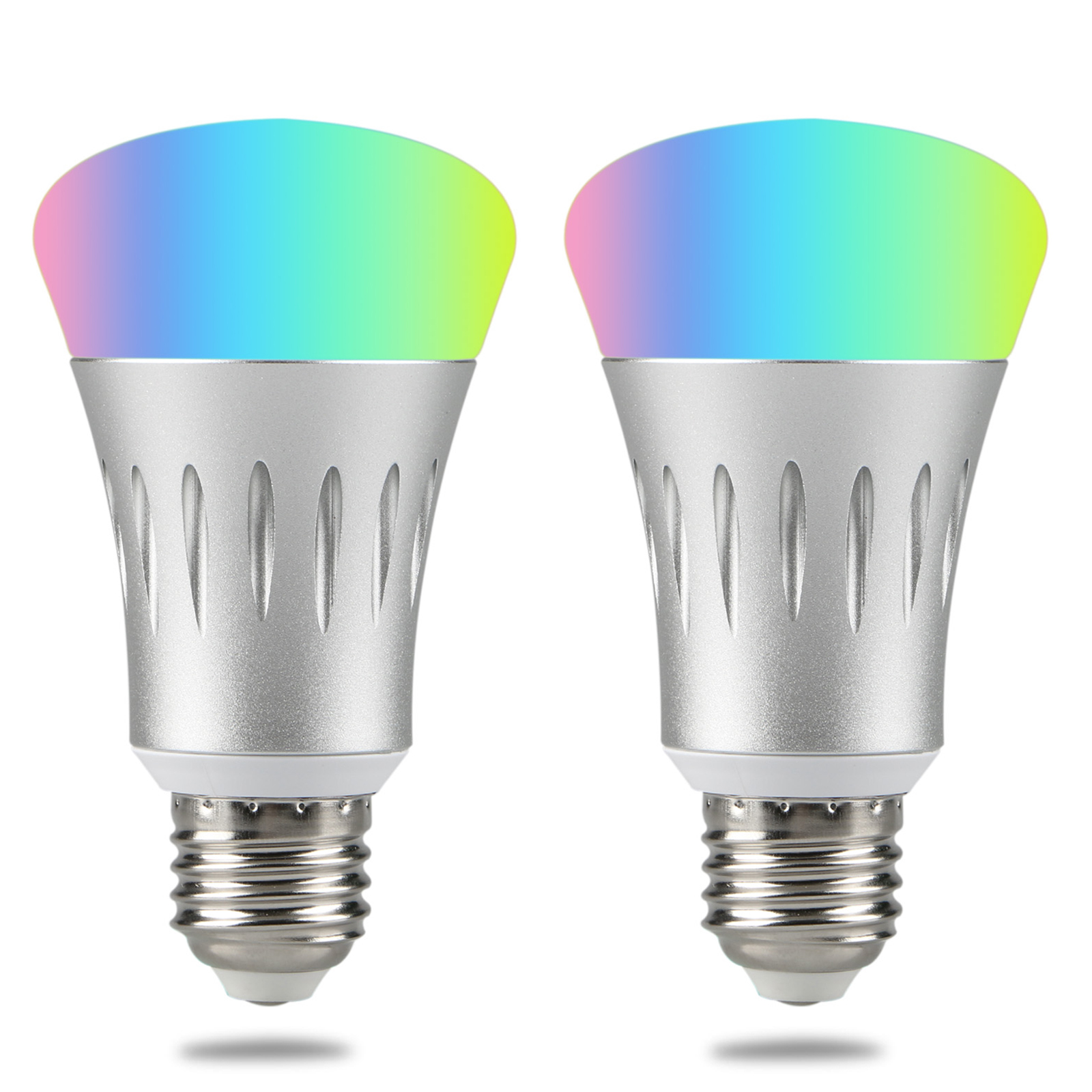 1x 2x 7w e27 wifi smart led light bulb work with amazon alexa rgb remote control ebay. Black Bedroom Furniture Sets. Home Design Ideas