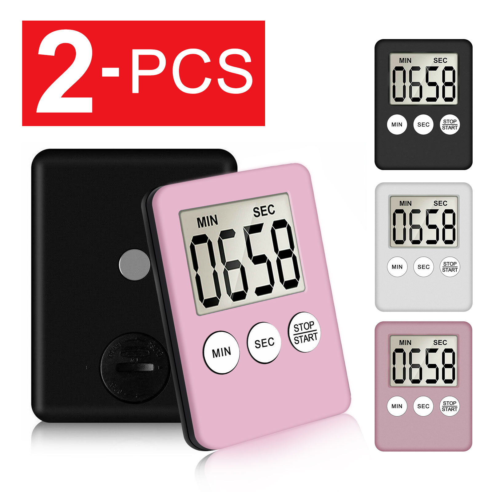 Large LCD Digital Kitchen Cooking Timer Count-Down Up Clock