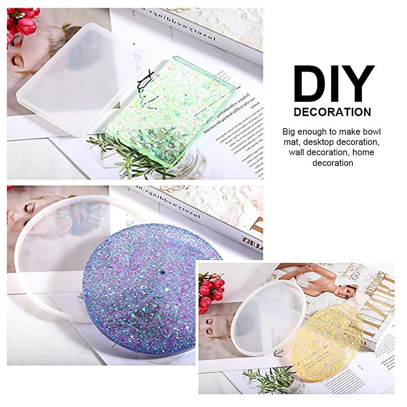 Silicone-Resin-Molds-Epoxy-Casting-Art-Coaster-Ashtray-Bowl-Mat-DIY-Craft-Tool thumbnail 3