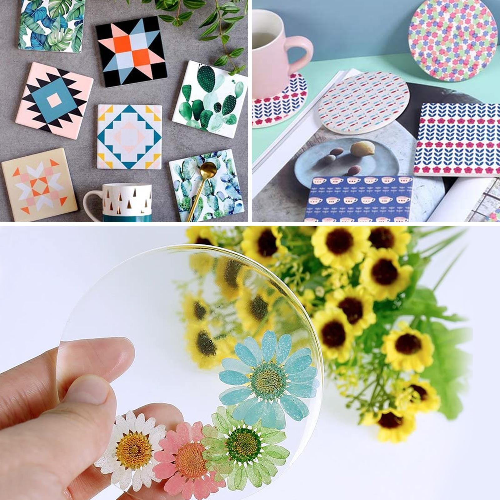 Silicone-Resin-Molds-Epoxy-Casting-Art-Coaster-Ashtray-Bowl-Mat-DIY-Craft-Tool thumbnail 4