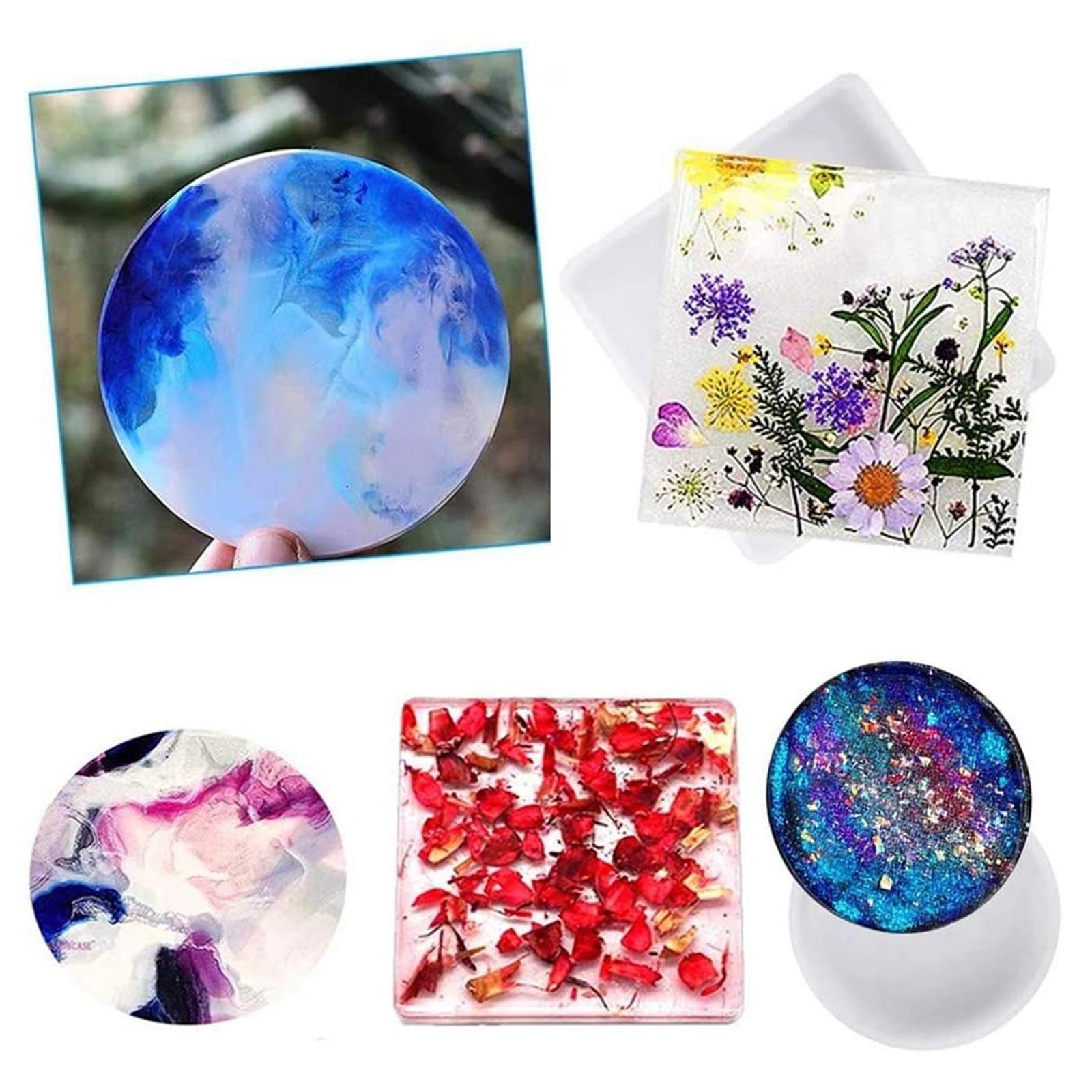 Silicone-Resin-Molds-Epoxy-Casting-Art-Coaster-Ashtray-Bowl-Mat-DIY-Craft-Tool thumbnail 6