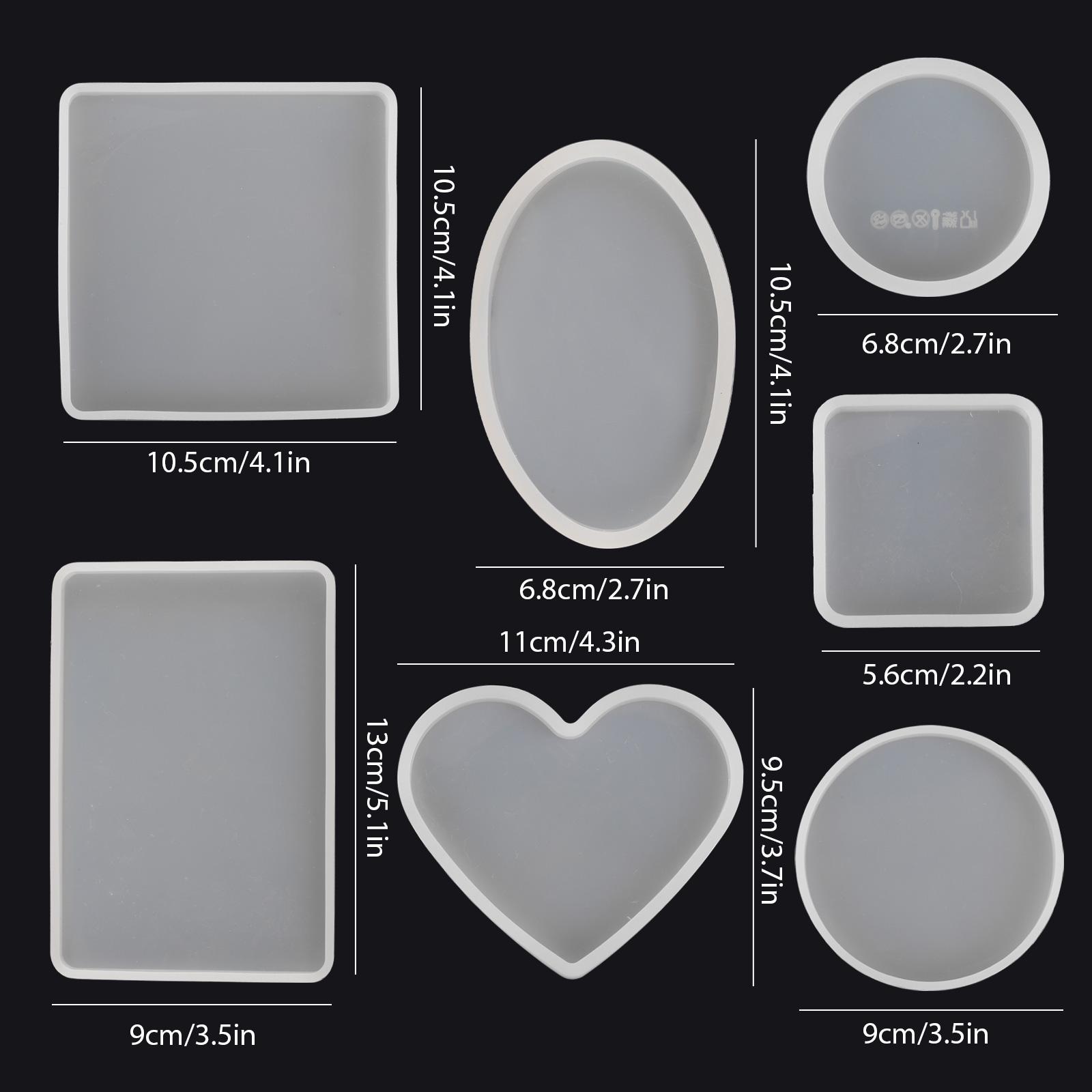 Silicone-Resin-Molds-Epoxy-Casting-Art-Coaster-Ashtray-Bowl-Mat-DIY-Craft-Tool thumbnail 8