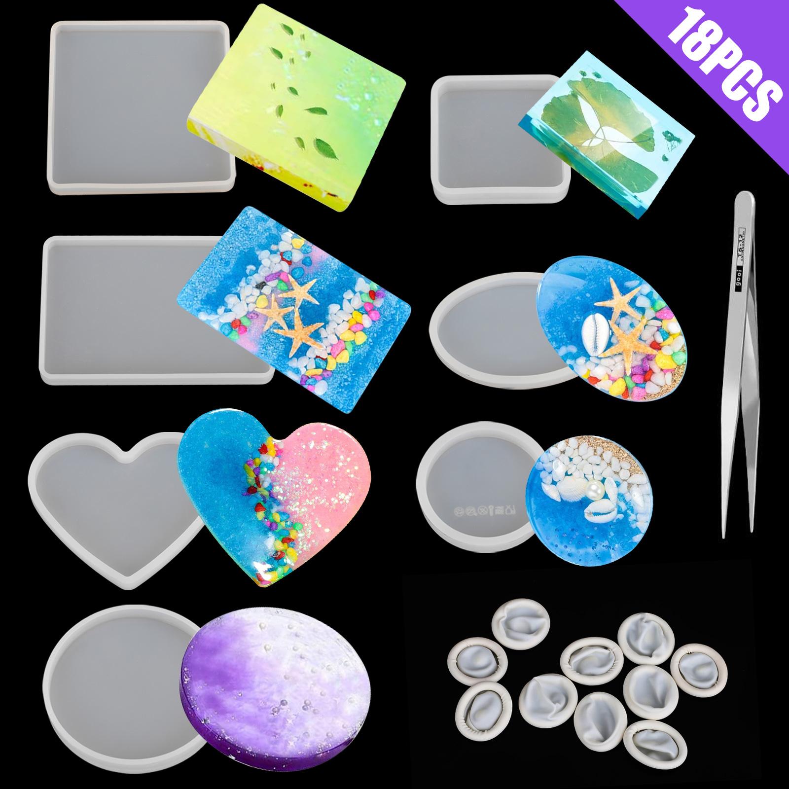 Silicone-Resin-Molds-Epoxy-Casting-Art-Coaster-Ashtray-Bowl-Mat-DIY-Craft-Tool