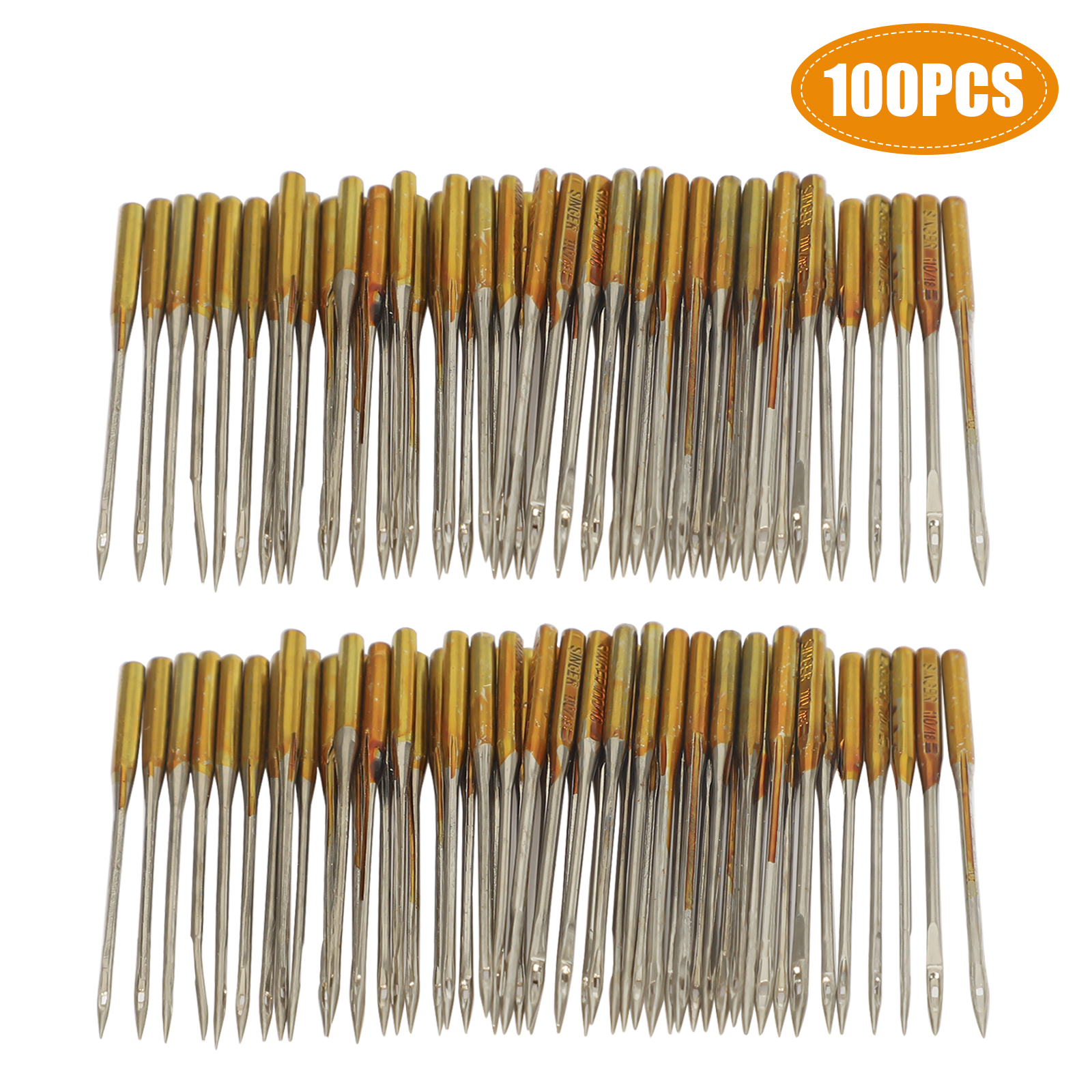 50Pcs Assorted Home Sewing Machine Needles Craft for Brother Janome Singer Tool