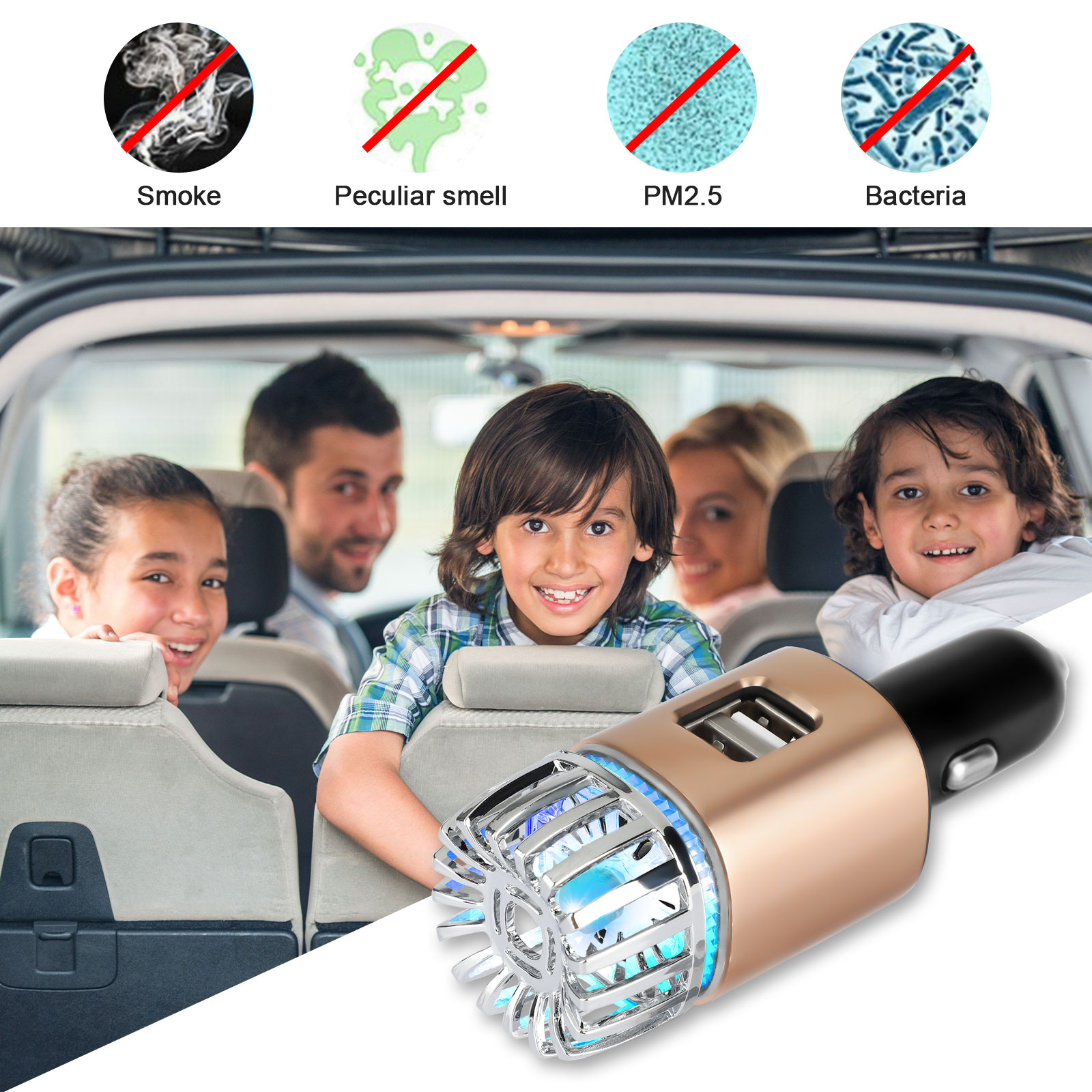 Jo 6281 High Grade Car Ionizer Air Purifier Silver Car Fresh Air Ionic Purifier For Sale Online Ebay