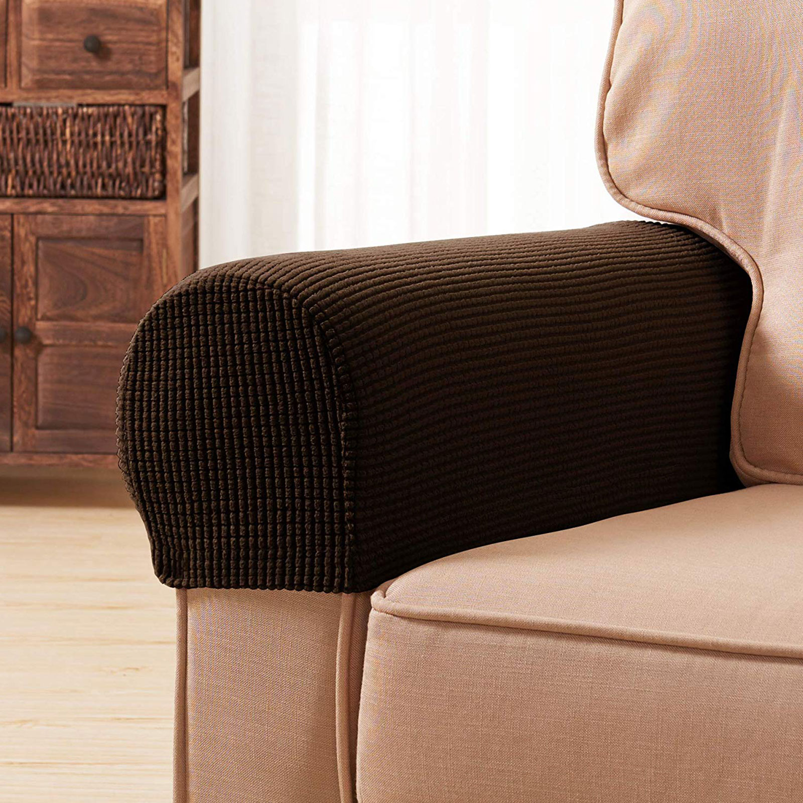 2x Premium Armrest Covers Stretchy Chair Sofa Couch Arm