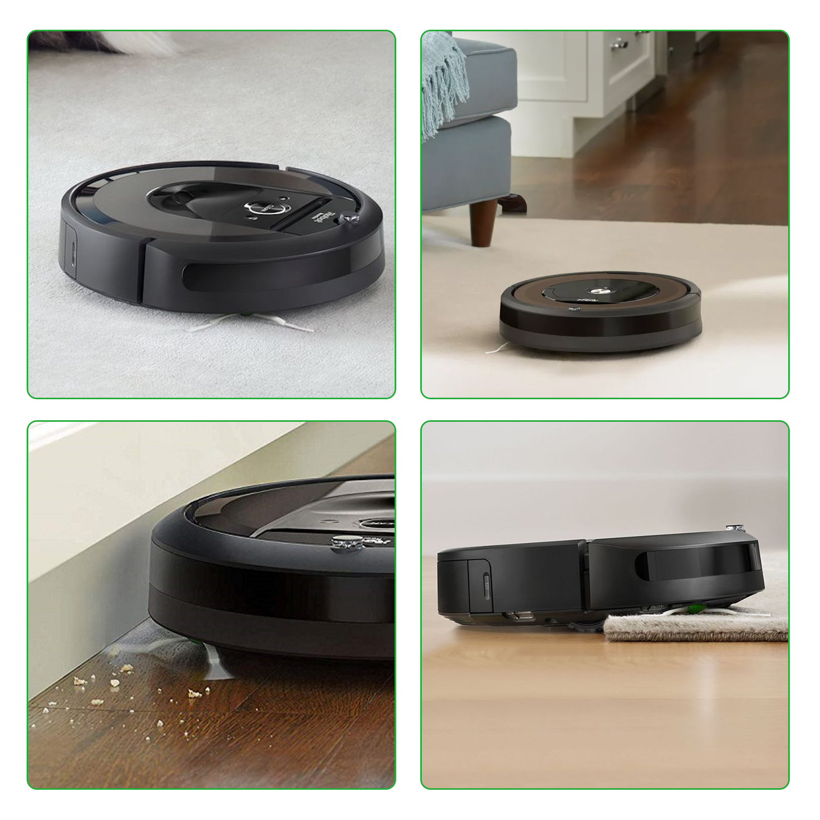 Robotics LOVECO 2 Set Replacement Rubber Brush Compatible for iRobot Roomba E Series E5 E6 i Series i7 i7 i7 Plus i3 i3