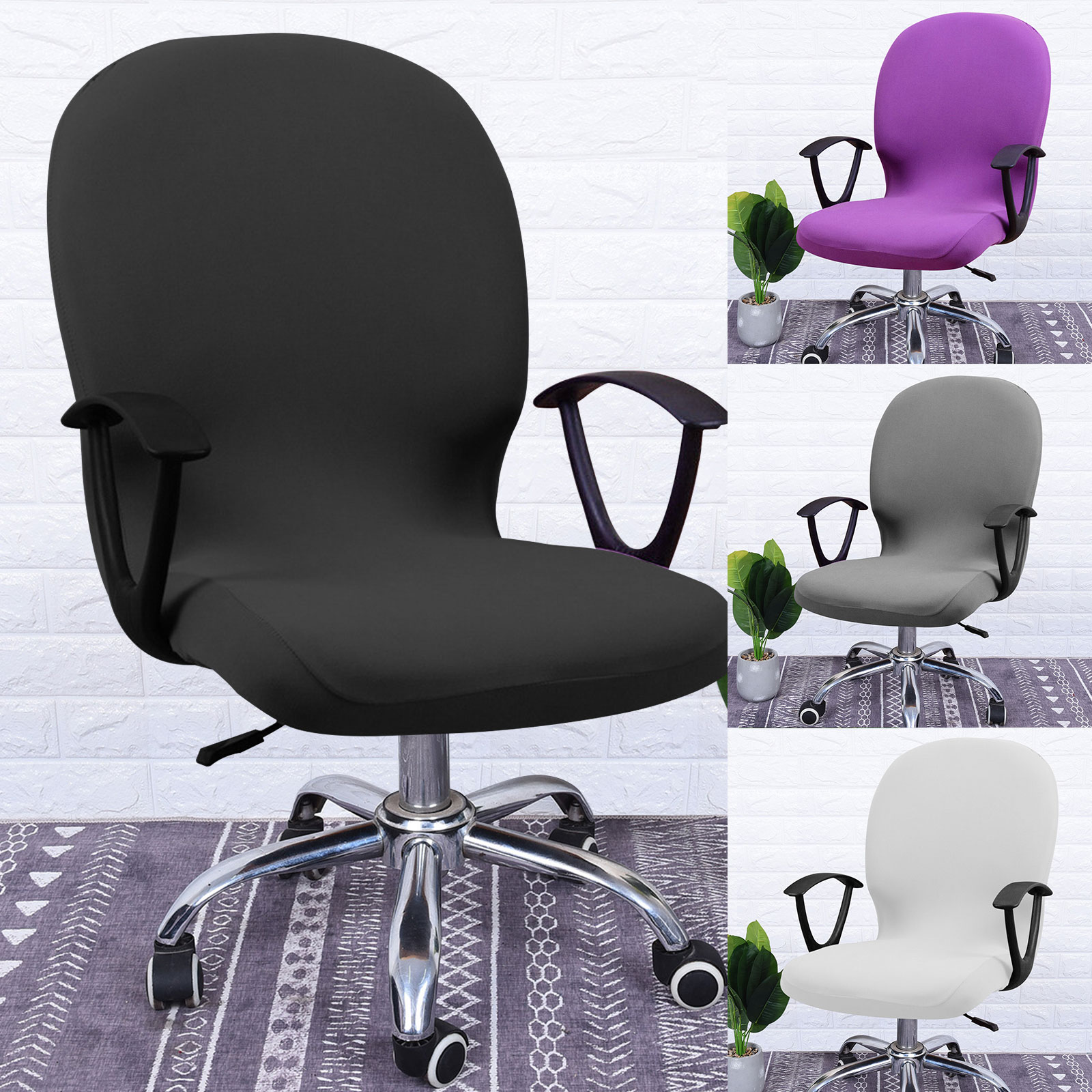 Swivel-Computer-Chair-Cover-Stretch-Remove-Office-Armchair-Slipcover-Seat-Cover