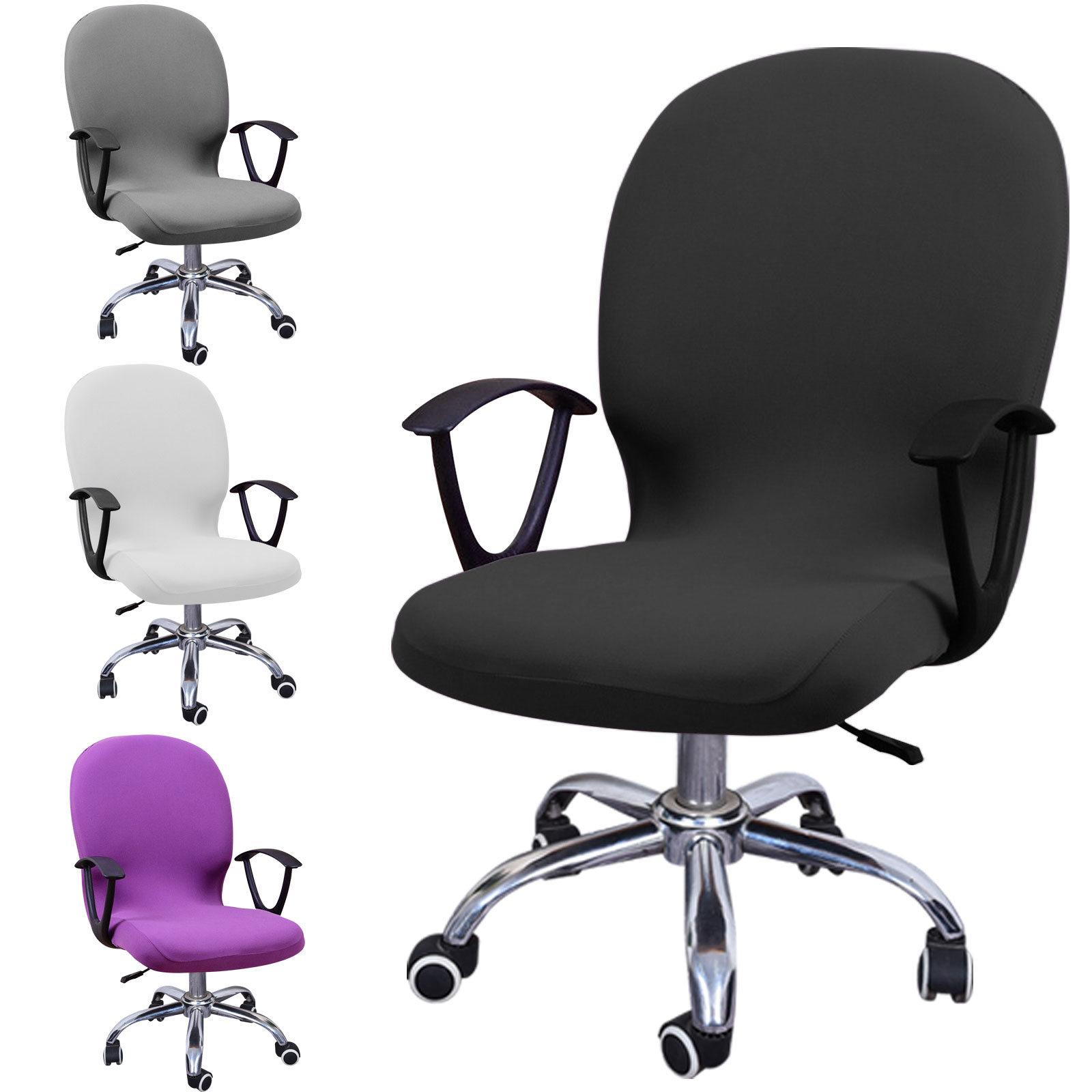 Swivel-Computer-Chair-Cover-Stretch-Remove-Office-Armchair-Slipcover-Seat-Cover thumbnail 10