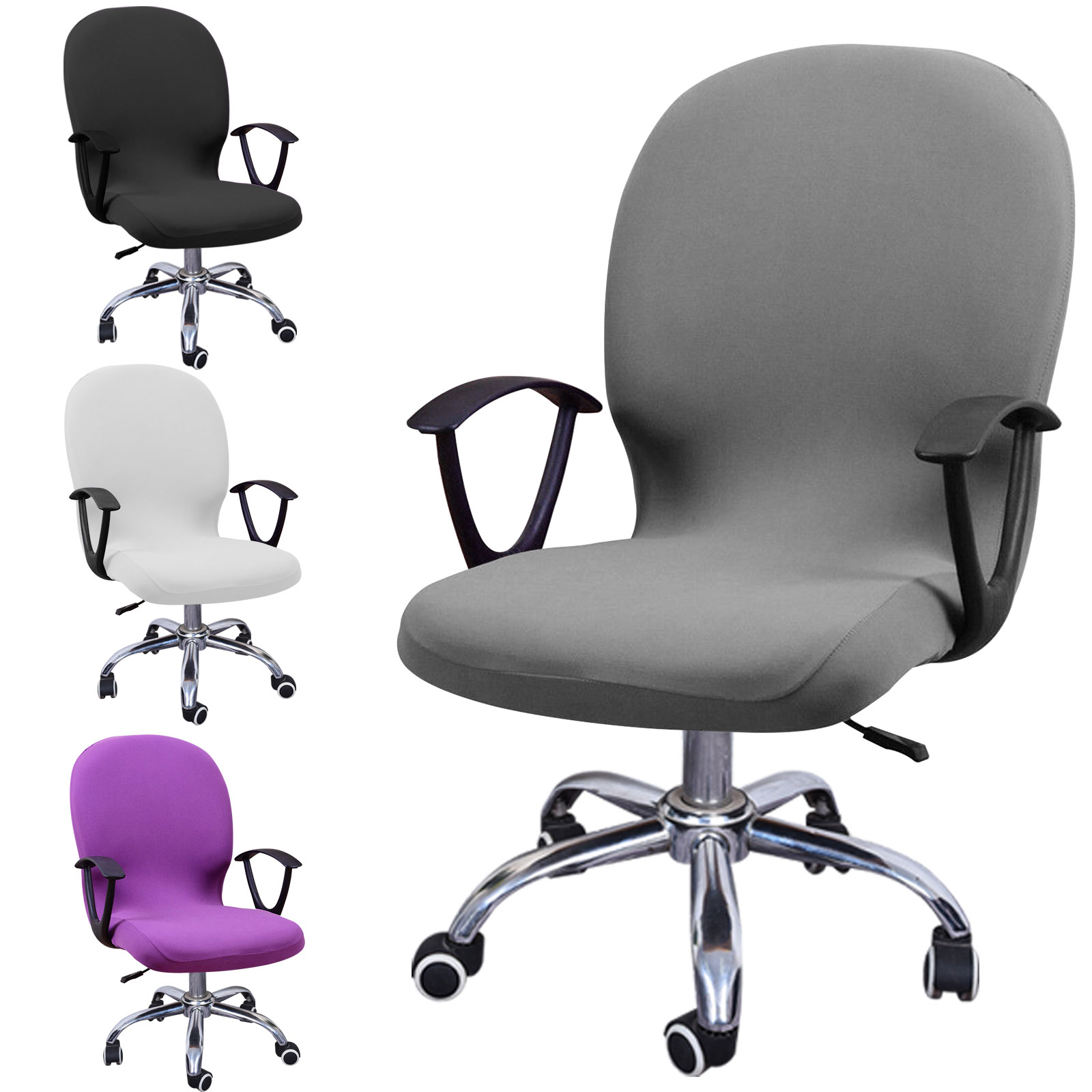 Swivel-Computer-Chair-Cover-Stretch-Remove-Office-Armchair-Slipcover-Seat-Cover thumbnail 11