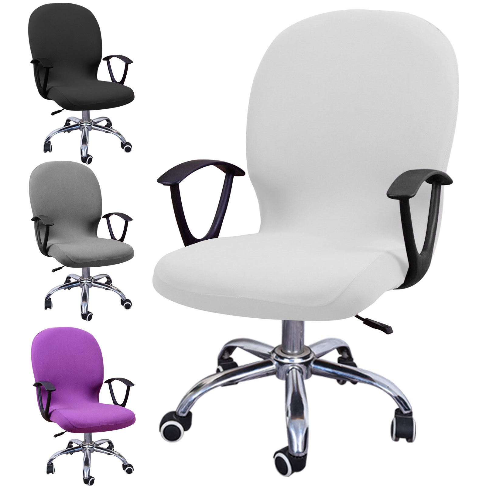 Swivel-Computer-Chair-Cover-Stretch-Remove-Office-Armchair-Slipcover-Seat-Cover thumbnail 12