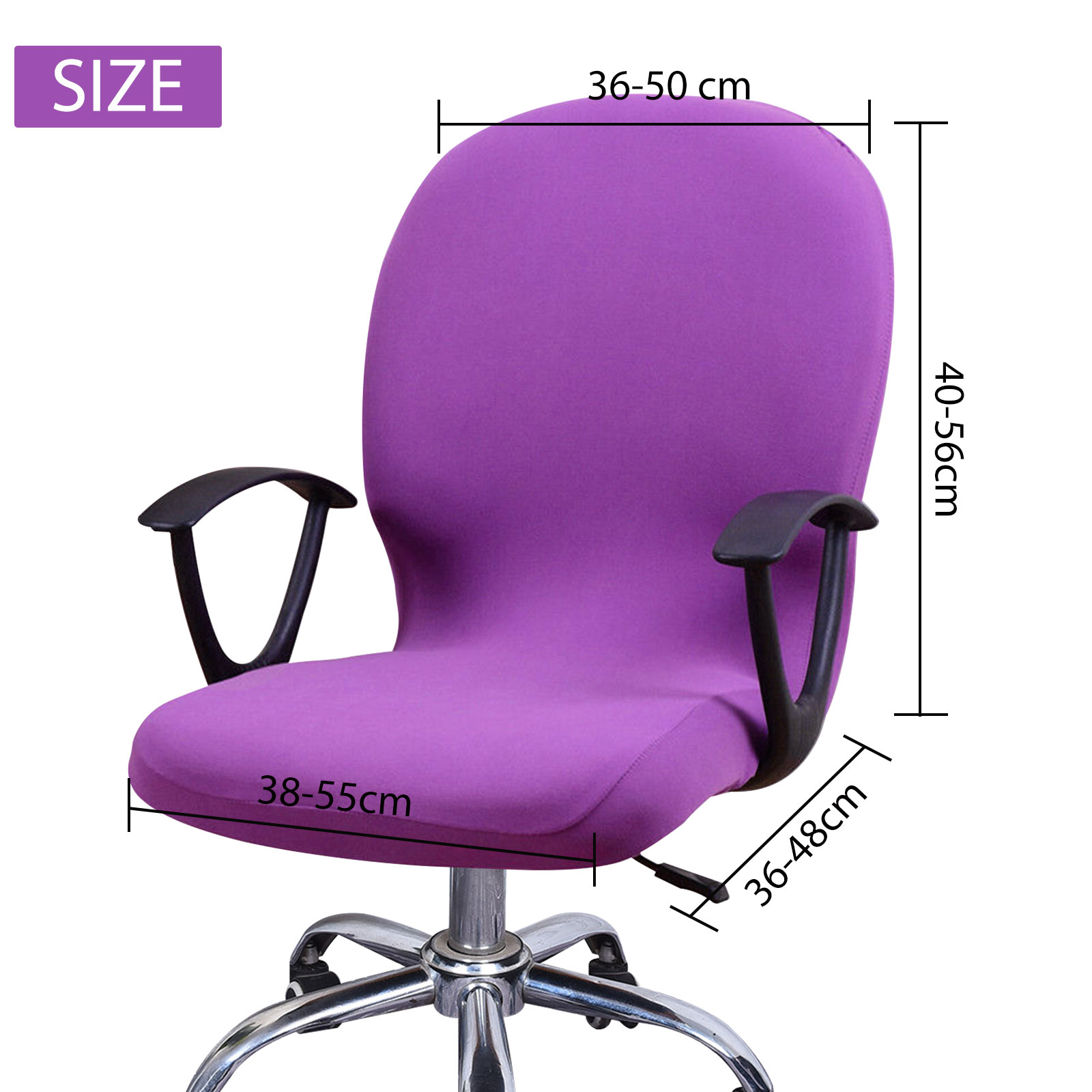 Swivel-Computer-Chair-Cover-Stretch-Remove-Office-Armchair-Slipcover-Seat-Cover thumbnail 3