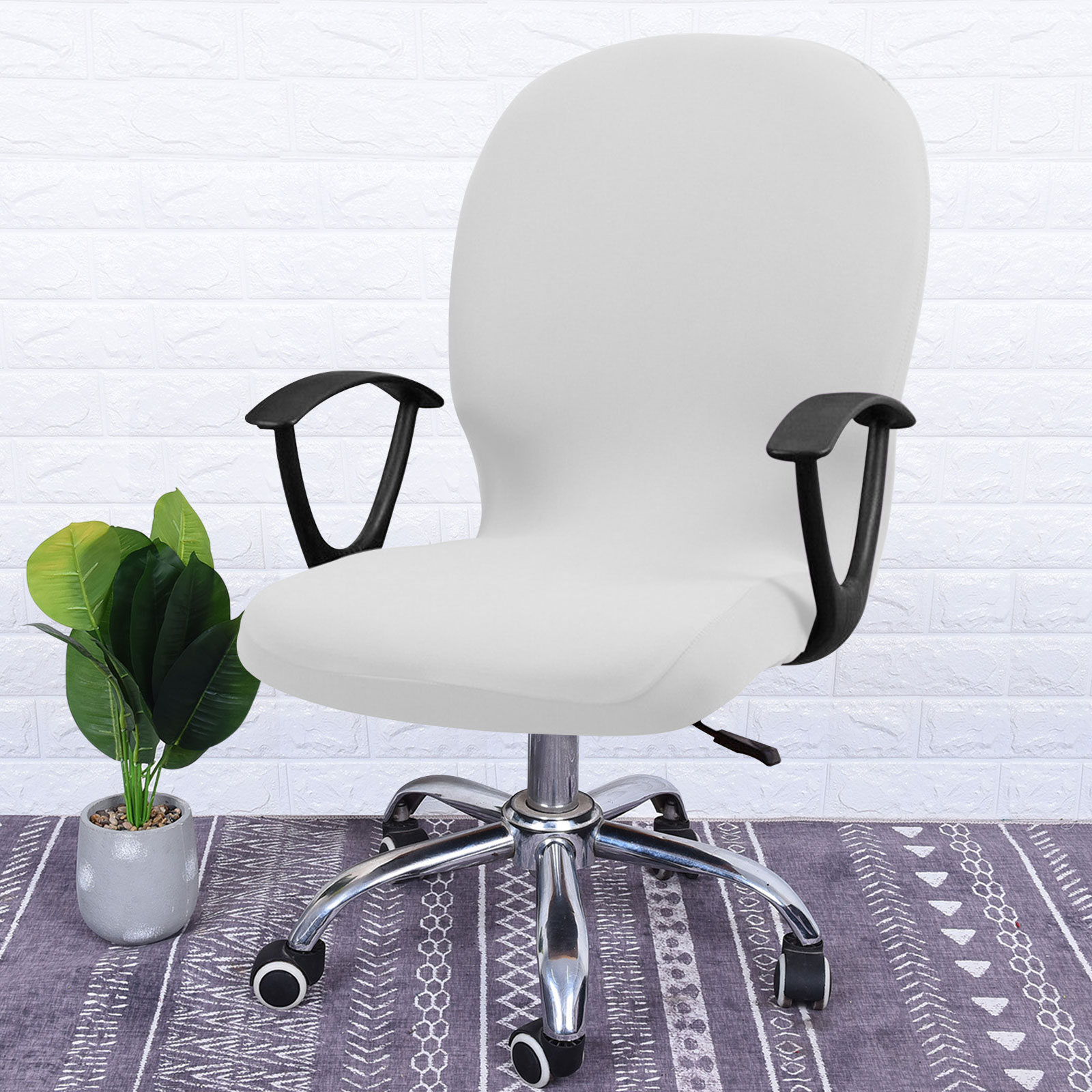 Swivel-Computer-Chair-Cover-Stretch-Remove-Office-Armchair-Slipcover-Seat-Cover thumbnail 6
