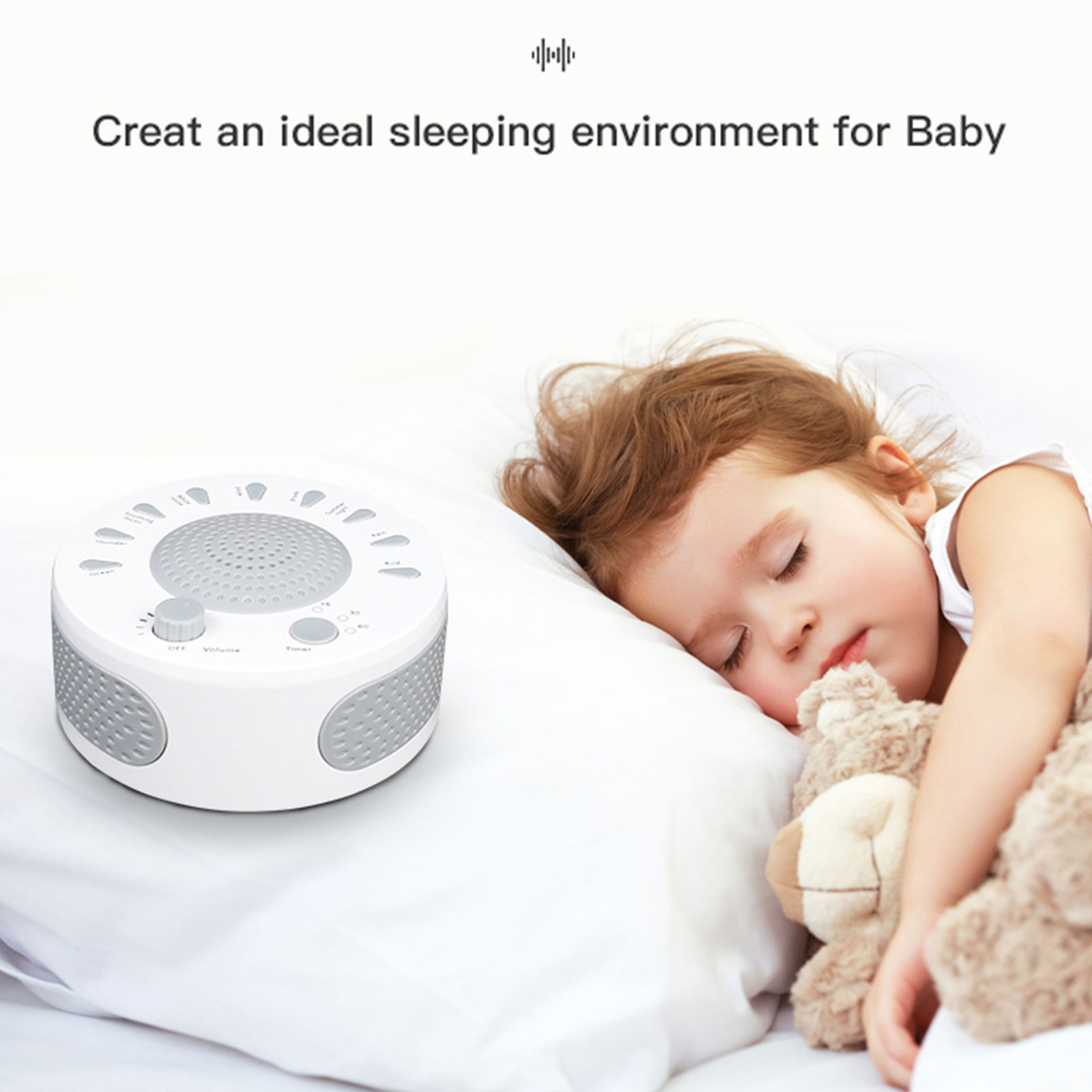 Nature Fan Sounds White Noise Machine for Baby Sleeping ...