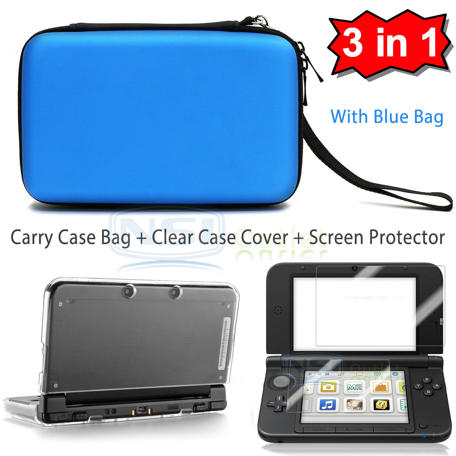 Carrying-Bag-Clear-Case-Cover-Screen-Protector-for-New-Nintendo-3DS-XL-LL-2015
