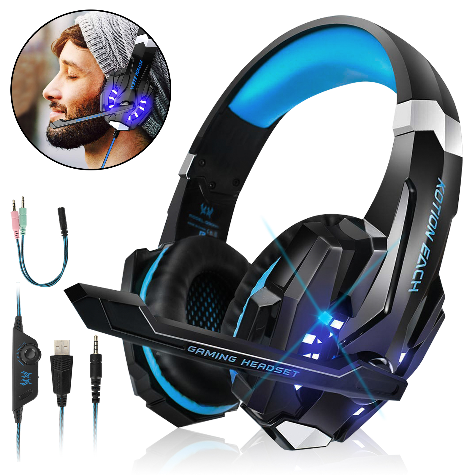 3-5mm-LED-Gaming-Headset-Mic-Headphone-Stereo-Bass-Surround-for-PS5-Xbox-One-PC thumbnail 11