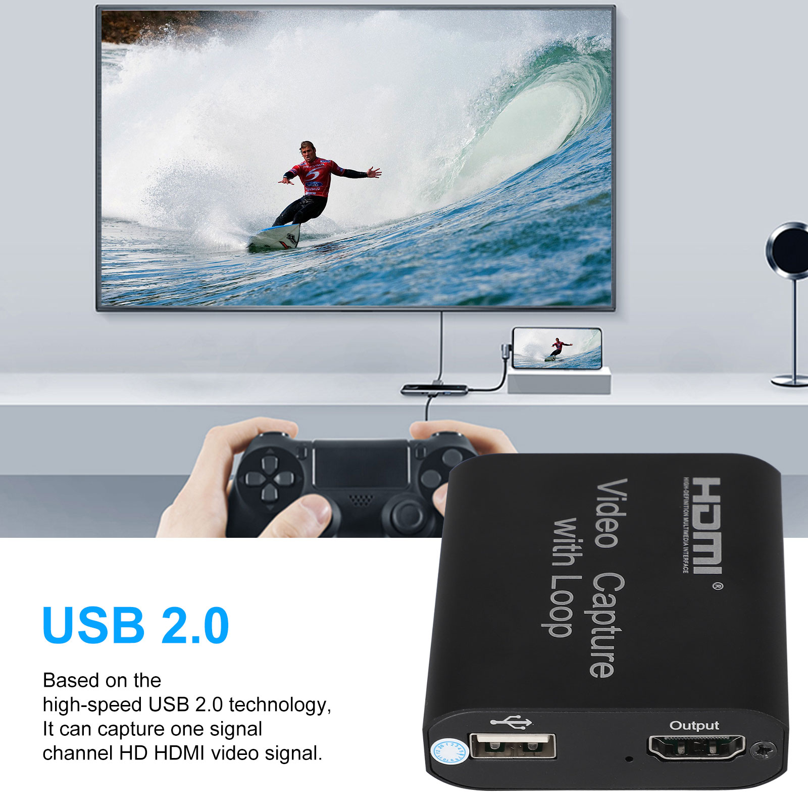 1080p-60fps-HDMI-Video-Digtal-Capture-Card-Recorder-for-Streaming-Meeting-Game thumbnail 3