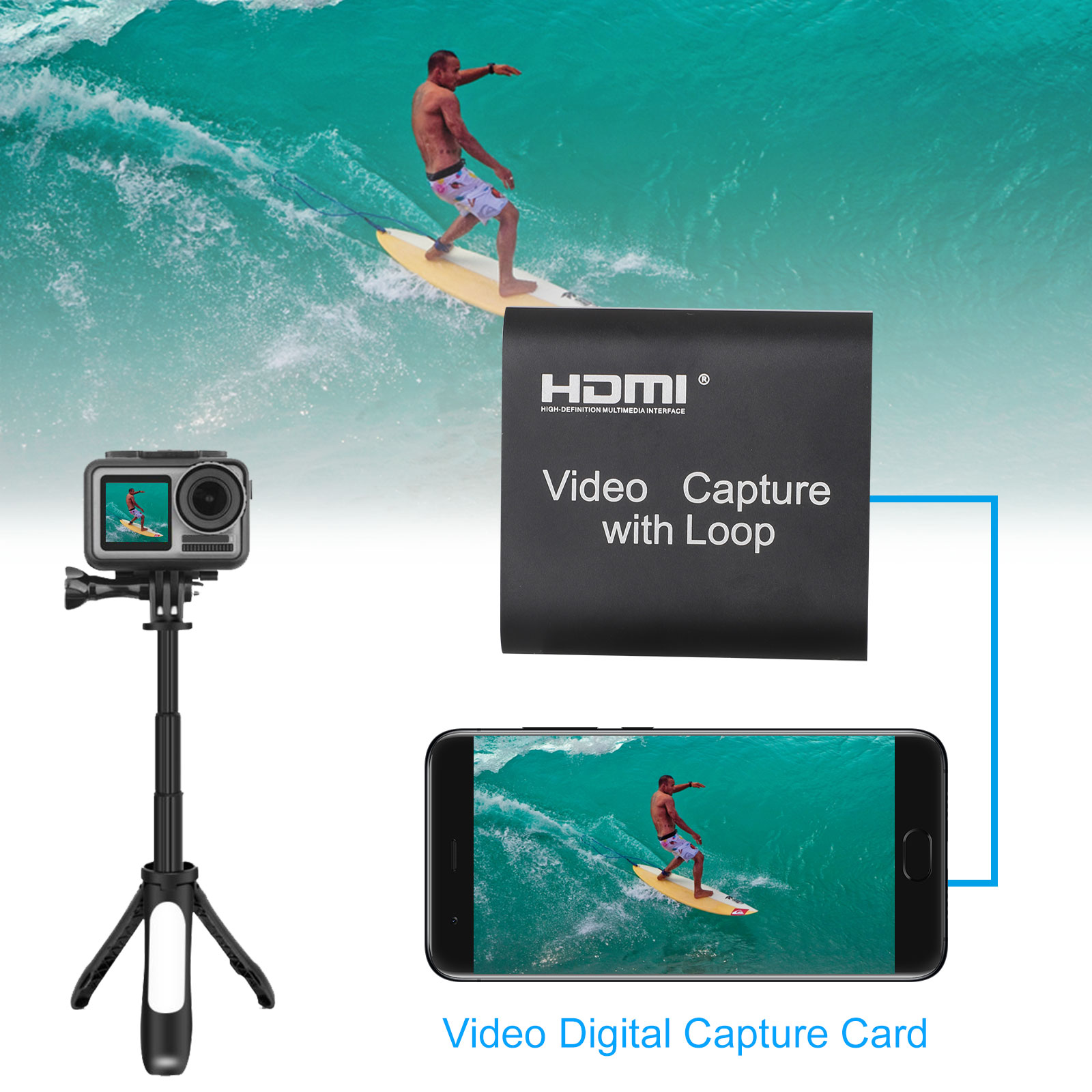1080p-60fps-HDMI-Video-Digtal-Capture-Card-Recorder-for-Streaming-Meeting-Game thumbnail 4