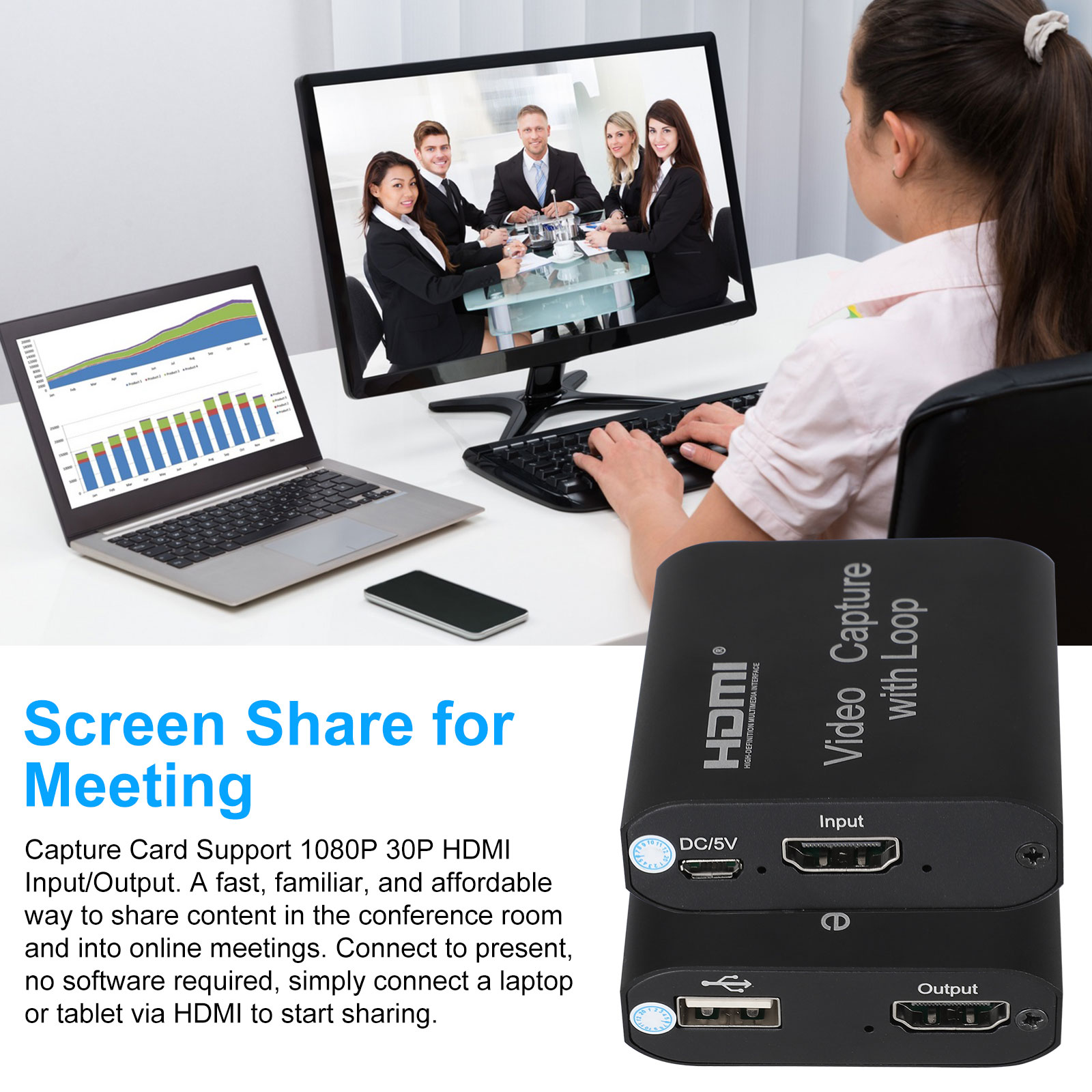 1080p-60fps-HDMI-Video-Digtal-Capture-Card-Recorder-for-Streaming-Meeting-Game thumbnail 6