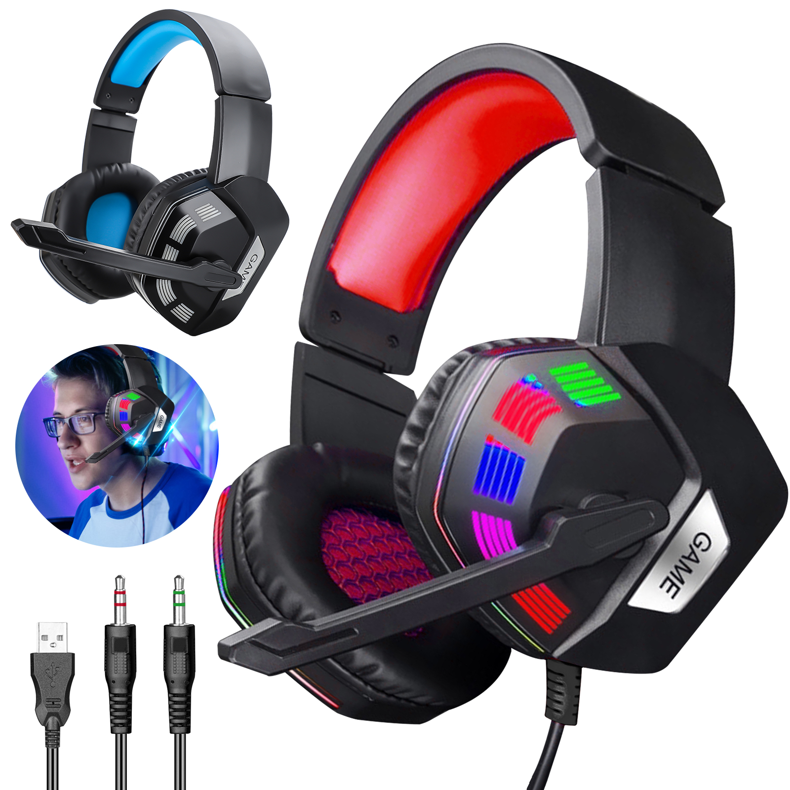 For PS4 Laptop Xbox one Gaming Headset Stereo Surround Headp