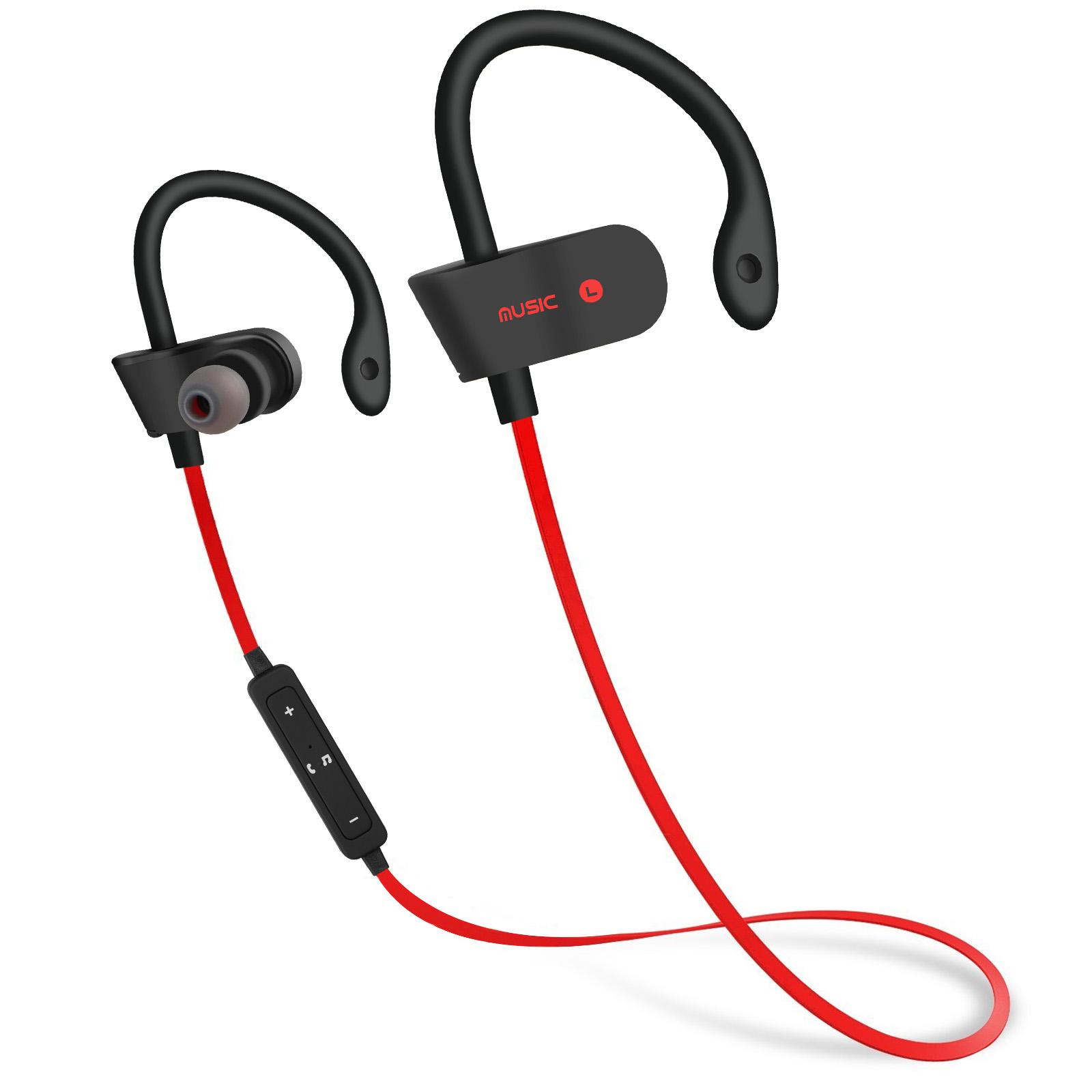 Headset With Bluetooth Stereo: Universal Earphone Wireless Ear-Hook In Ear Headset Stereo