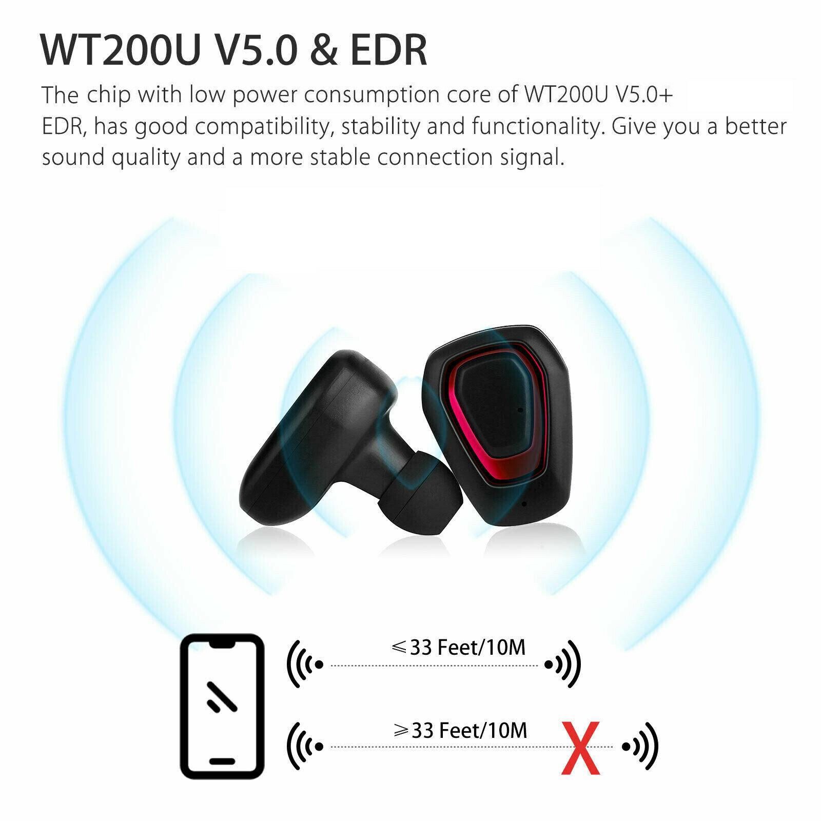 Earbuds-Headphone-Wireless-TWS-Mini-In-Ear-Headset-Deep-Bass-Earphones-5D-Stereo thumbnail 2