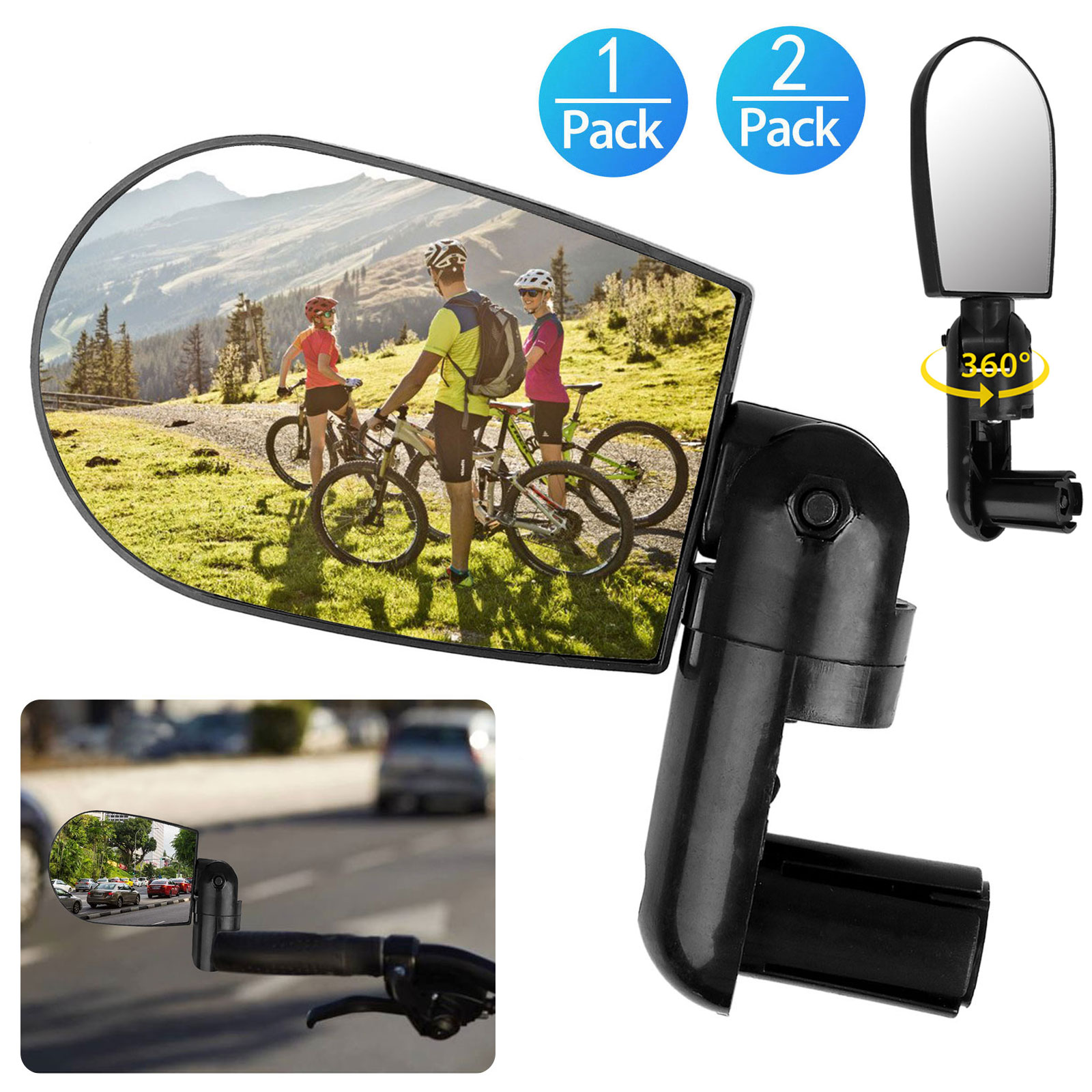 Rotatable-Handlebar-Rearview-Mirror-for-Bike-Bicycle-Cycling-Rear-View-Mirror thumbnail 11