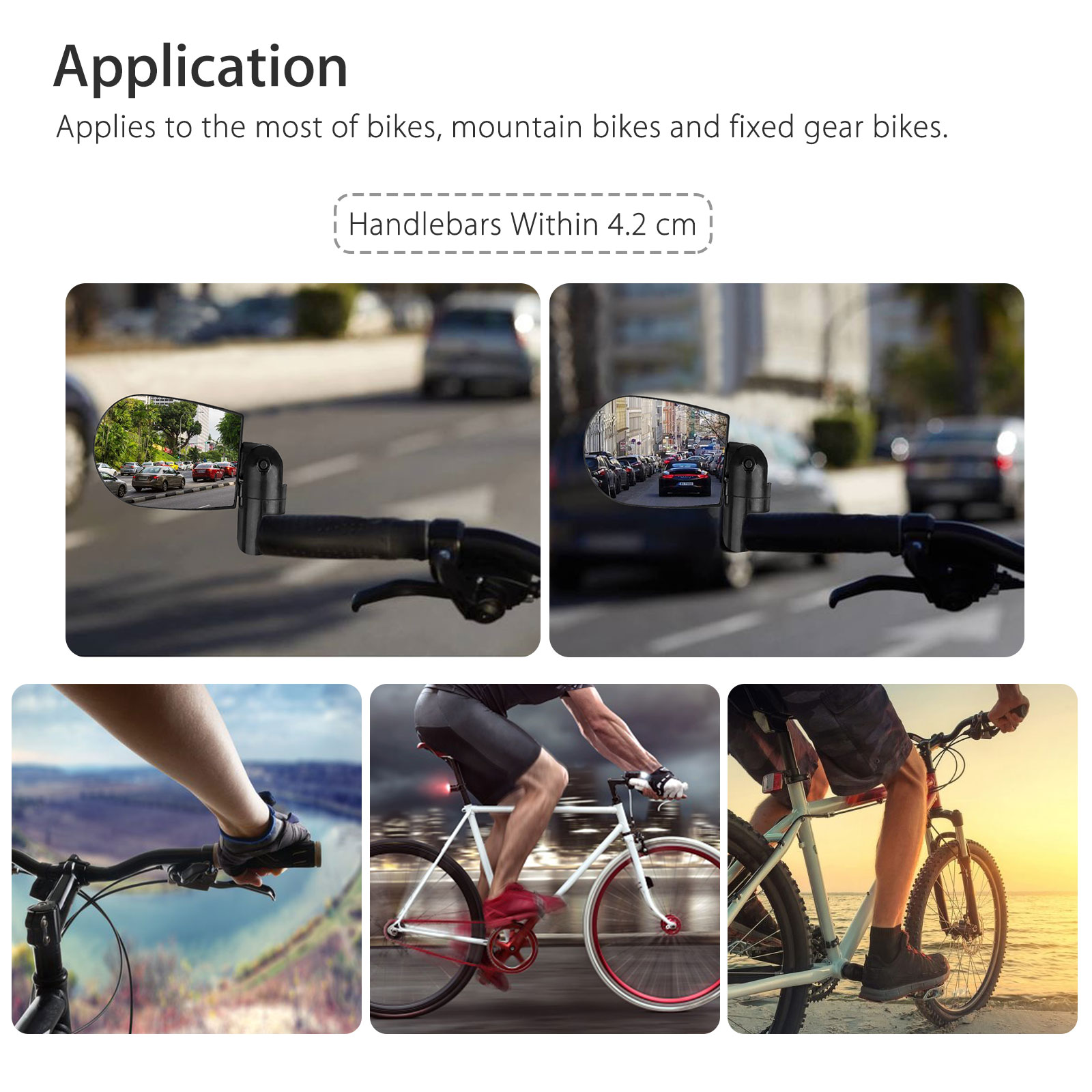 Rotatable-Handlebar-Rearview-Mirror-for-Bike-Bicycle-Cycling-Rear-View-Mirror thumbnail 4