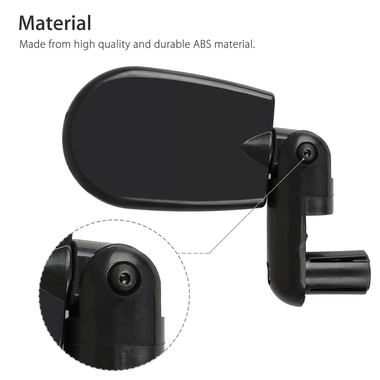 Rotatable-Handlebar-Rearview-Mirror-for-Bike-Bicycle-Cycling-Rear-View-Mirror thumbnail 5