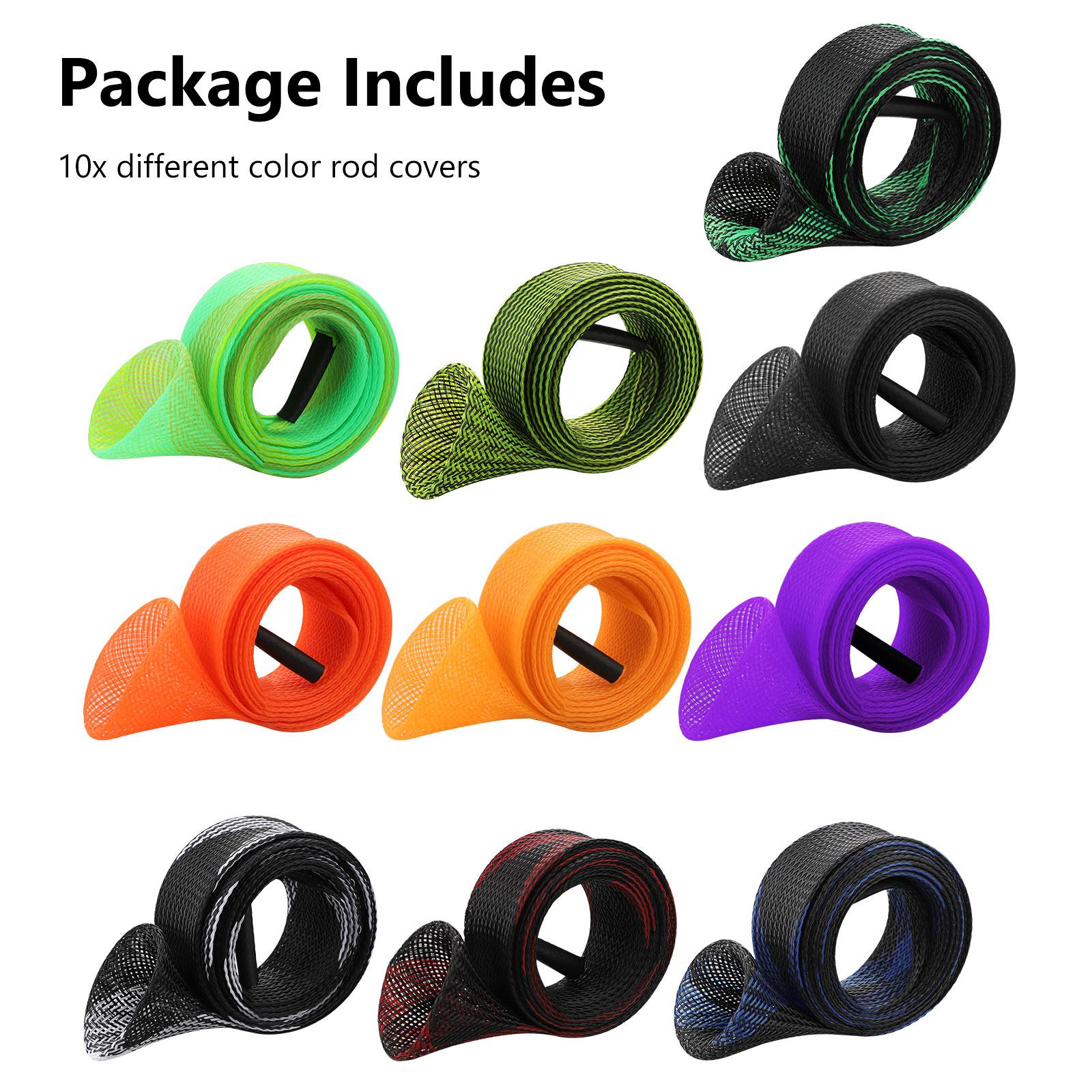 10Pcs-67-039-039-Fishing-Spinning-Rod-Sock-Covers-Braided-Mesh-Rod-Protector-Sleeve-US thumbnail 8