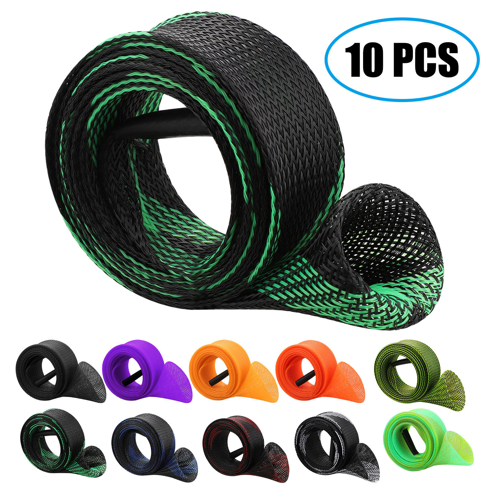 10Pcs-67-039-039-Fishing-Spinning-Rod-Sock-Covers-Braided-Mesh-Rod-Protector-Sleeve-US