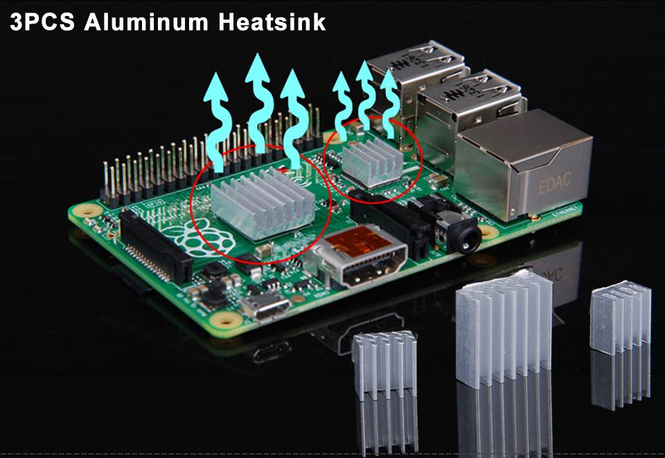 Clear Case Enclosure Box Cooling Fan Heatsink For